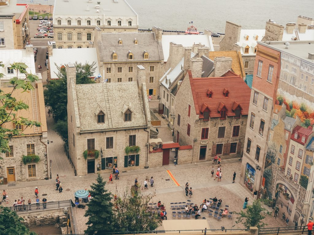 Lower town of Quebec & Frescoes
