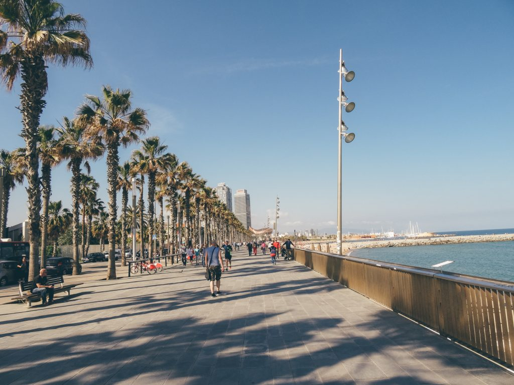 Stroll on Barcelona Coastline