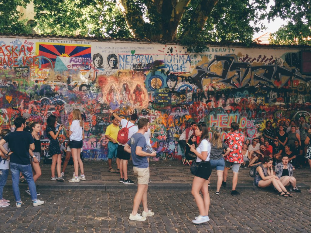 Get Inspired by John Lennon Wall, Prague