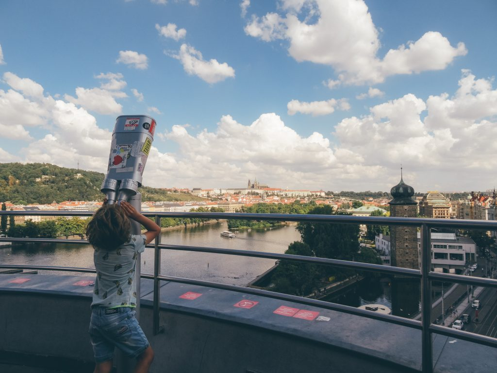 Terrace View from the Dancing House, Prague
